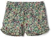 Print ruffle dolphin shorts