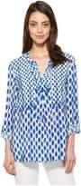 Nic+Zoe NIC & ZOE Women's Falling Dots Top Shirt