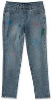 Calvin Klein Paint-Splatter Boyfriend Jeans, Big Girls (7-16)