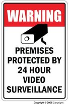 VIDEO SURVEILLANCE ~Sign~ Property Protected by 24 Hour