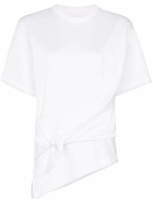 Marques Almeida knot detail asymmetric T-shirt