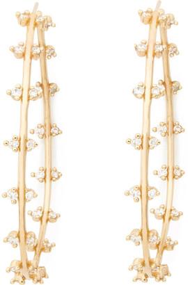 Sophie Ratner Double Row Diamond Hoops Earring