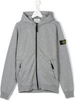 Stone Island Junior - zip-up hoodie - kids - Cotton - 14 yrs