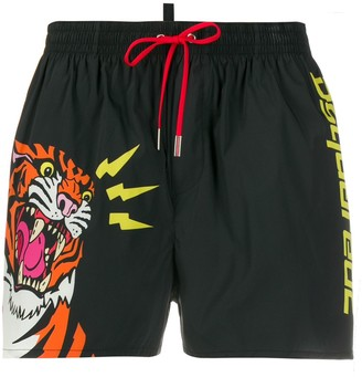 DSQUARED2 Tiger Swimming Trunks