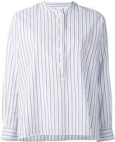 Margaret Howell striped collarless blouse