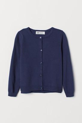 H&M Knit Cotton Cardigan - Blue