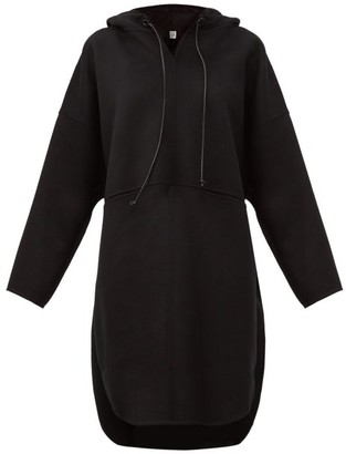 Totême Hooded Pullover Coat - Black