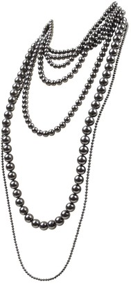 Celine Anthracite Pearls Necklaces