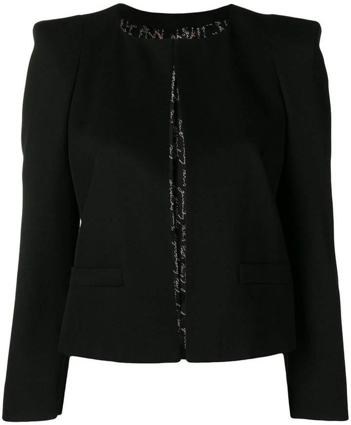 Givenchy boxy cropped jacket