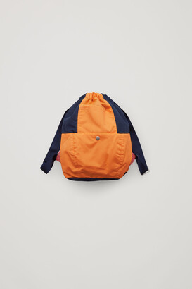 Cos Colour-Block Drawstring Backpack