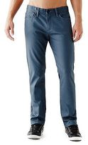 GUESS Men's Rockford Coated Slim Straight Jeans