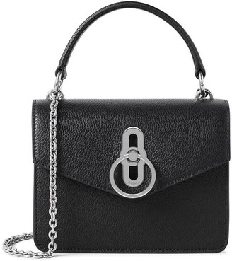 Mulberry Small Amberley Crossbody Black and Silver