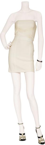 Vanessa Bruno Ecru Strapless Dress