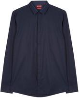 Hugo Ewid Navy Cotton Shirt