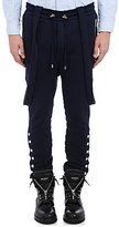 Balmain Men's Suspender Moto Jogger Pants-NAVY