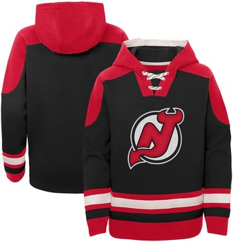 Outerstuff Youth Black New Jersey Devils Ageless Must-Have Lace-Up Pullover Hoodie