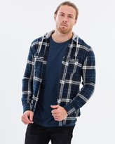 DC Mens Runnel Long Sleeve Hooded Shirt