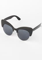 Missy Empire Arcadia Black Double Cat Eye Sunglasses