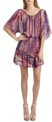 Cynthia Steffe Striped Silk Chiffon Dress