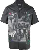 Lanvin printed bowling shirt