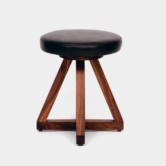 Artless X Accent Stool Seat Color: Blackbean, Frame Color: Bleached White Oak