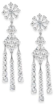 Eliot Danori Silver-Tone Cubic Zirconia Chandelier Earrings, Created for Macy's