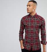 Asos Tall Skinny Western Check Shirt