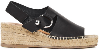 Rag & Bone Arc Leather Espadrille Wedge Sandals