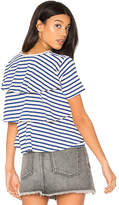 Amo Ruffle Tee in Blue. - size M (also in S,XS)