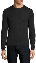 Prada Cashmere Solid Ribbed Crewneck Sweater