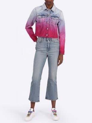 Off-White Pink Gradient Effect Denim Jacket