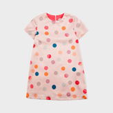 Paul Smith Girls' 7+ Years Glittered Pink Polka Dot 'Phedre' Dress
