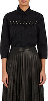 Noir Kei Ninomiya Women's Floral-Appliquéd Cotton Button-Front Shirt