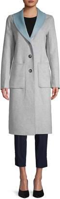 T Tahari Jenna Shawl Collar Wool-Blend Coat