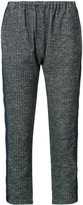 Engineered Garments elasticated waist cropped trousers - women - Cotton/Polyester/Wool - 2