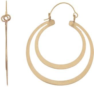 Area Stars Matte Circle Earrings