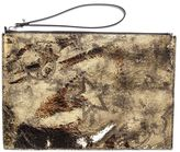 McQ by Alexander McQueen Metallic Leather Clutch