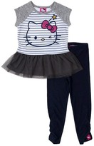 Hello Kitty Toddler Girls' Top And Bottom Set - Heather Grey