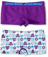 Star Wars Girls' 2-Pack Boy Shorts - Multicolored