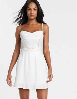Gilli mini skater dress with embroidery detail