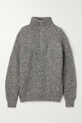 Etoile Isabel Marant Myclan Ribbed Cotton-blend Sweater - Gray