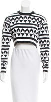 Edun Geometric Patterned Crop Top