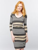 A Pea in the Pod Ripe Mock Layer Ruched Nursing Dress