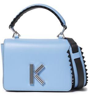 Kenzo K Logo-embellished Leather Shoulder Bag