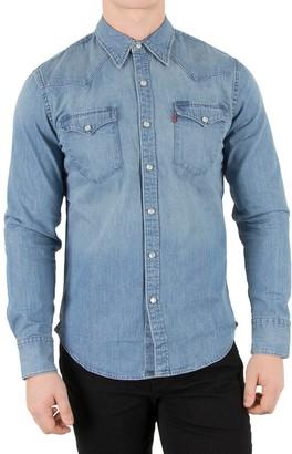Levi's Men's L/S Barstow Western Shirt Plain Slim Fit Jeans shirt