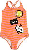 Fendi Sun Printed Lycra One Piece Swimsuit