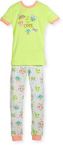 Petit Lem Emoji Top & Pants Pajama Set, Yellow, Size 2-4T