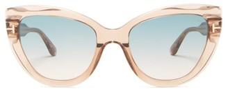 Tom Ford Anya Cat-eye Acetate Sunglasses - Womens - Clear