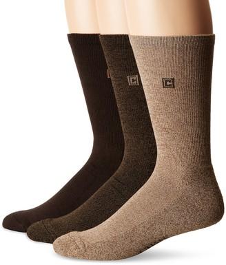 Chaps Men's Assorted Solid Dress Crew Socks (3 Pack)