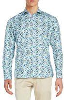 Jared Lang Regular-Fit Abstract-Print Cotton Sportshirt
